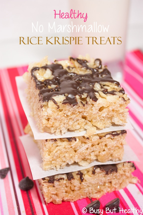 Healthy No Marshmallow Rice Krispie Treats Main
