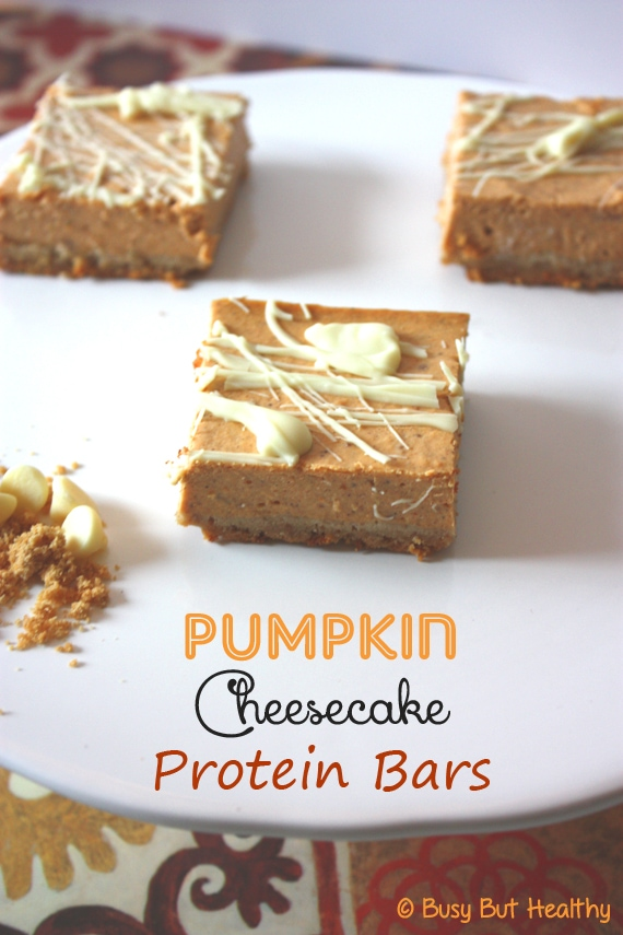 Thumbnail image for Pumpkin Cheesecake Protein Bars