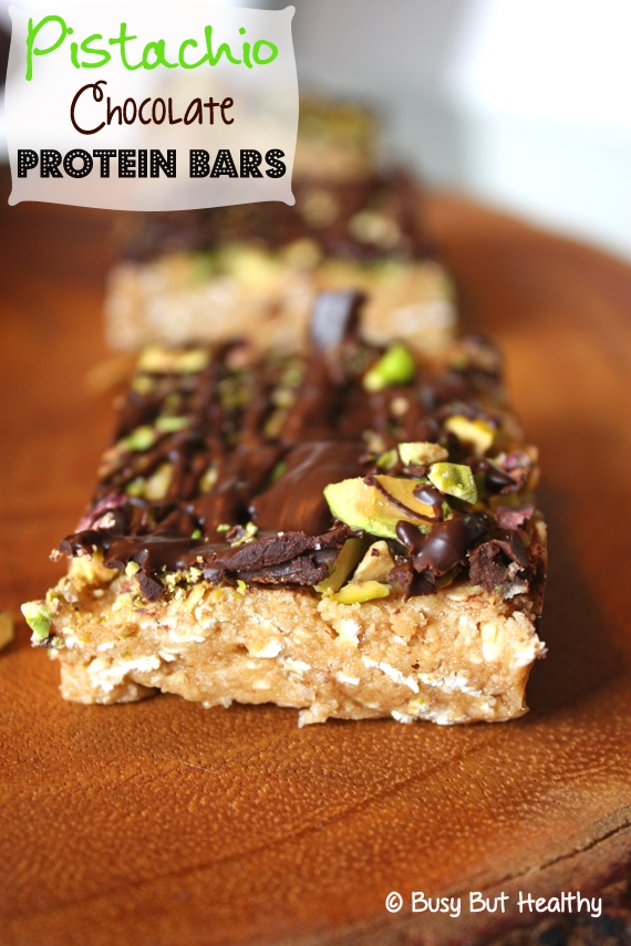 Thumbnail image for Pistachio Chocolate Protein Bars