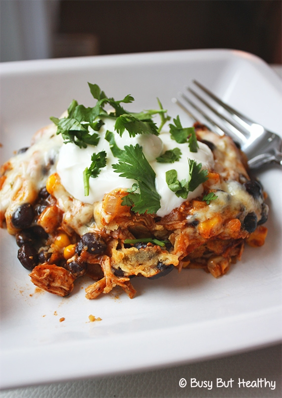 Thumbnail image for Chicken and Black Bean Mexican Casserole