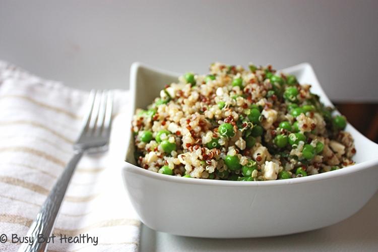 Quinoa Salad with Peas Mint Feta_2